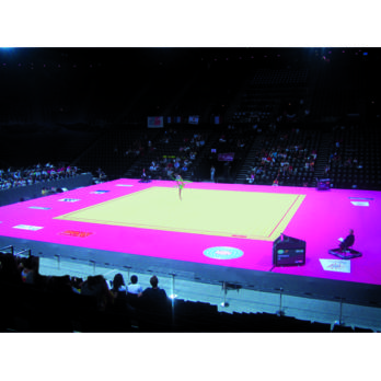 COMPLETE RHYTHMIC GYMNASTIC COMPETITION FLOOR Ref 6667 , 6660 , 6655