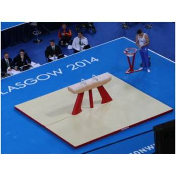 FIG POMMEL LANDING MATS WITH CUT OUTS