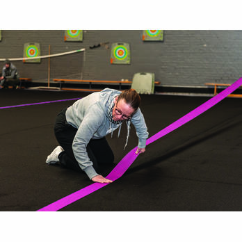 Self gripping strips for Roll-up Track