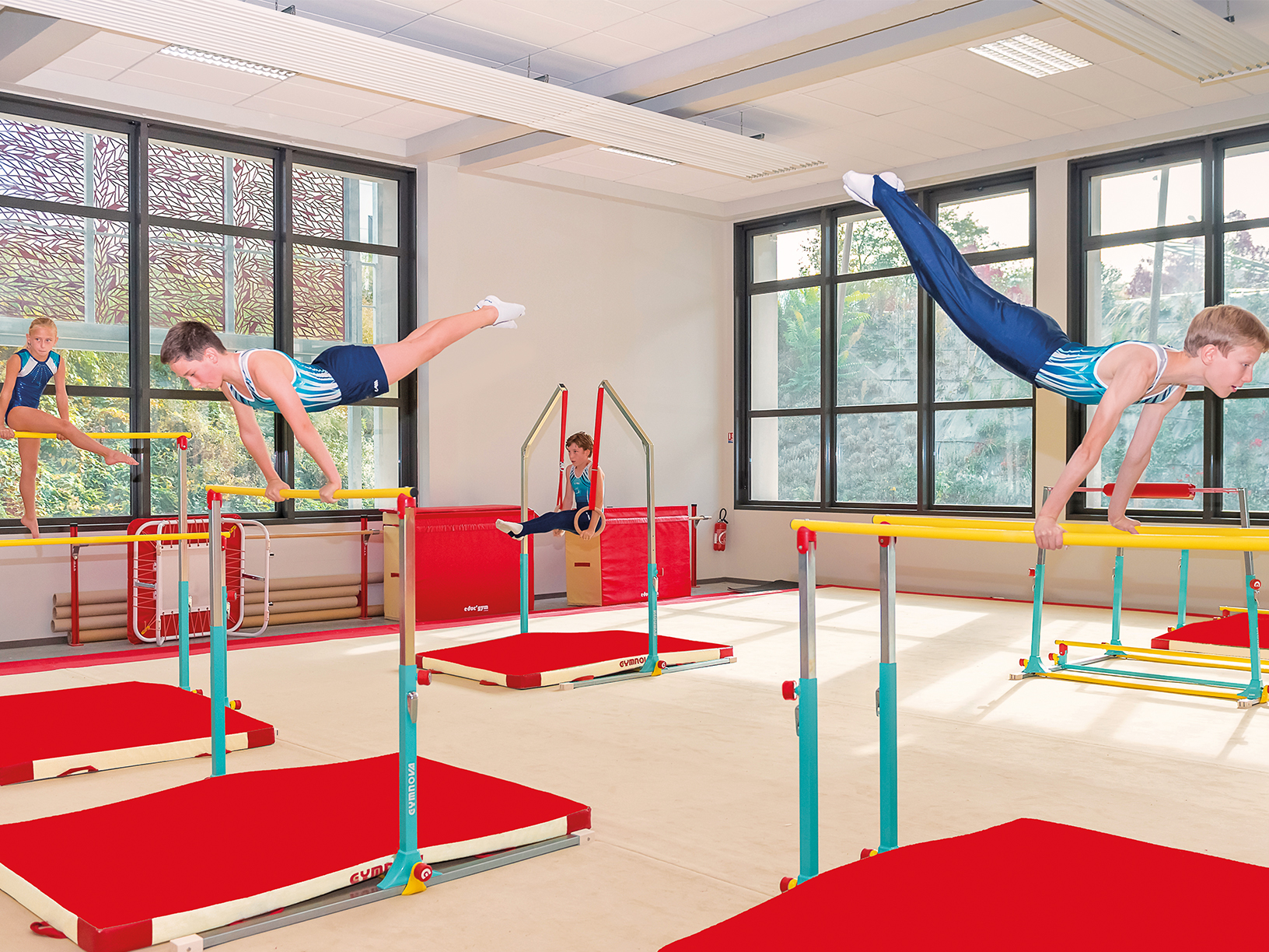 Gymnastics Bar And Mat Uk Asymmetric Uneven Bars Deluxe